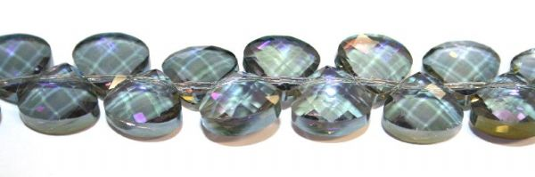 100pcs x 12mm*12mm clear with purple coating faceted triangle glass beads -- S.T05 - 3005598